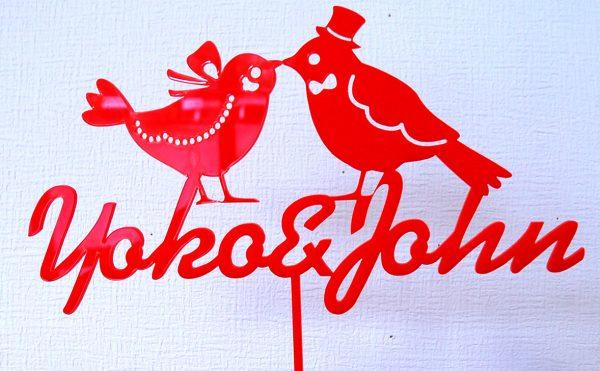 c168ac184bf8ff41192bc874dec3a731 600x371 - 人気の小鳥が名入れオーダーメイドケーキヘッドになって、結婚式で活躍