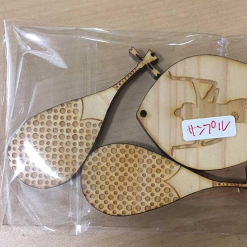naranaradewa2 - 奈良のお土産物 琵琶のチャーム