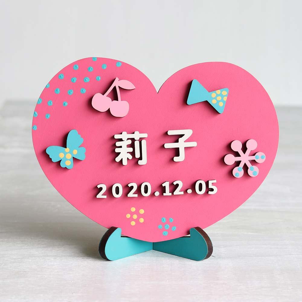 90518e0112c95ce80778ffead47f3fc2 - 【シロクマの出産祝い】手作りギフト。赤ちゃんの名前をインテリアにしちゃおう!木製ドアプレートキットなら簡単。