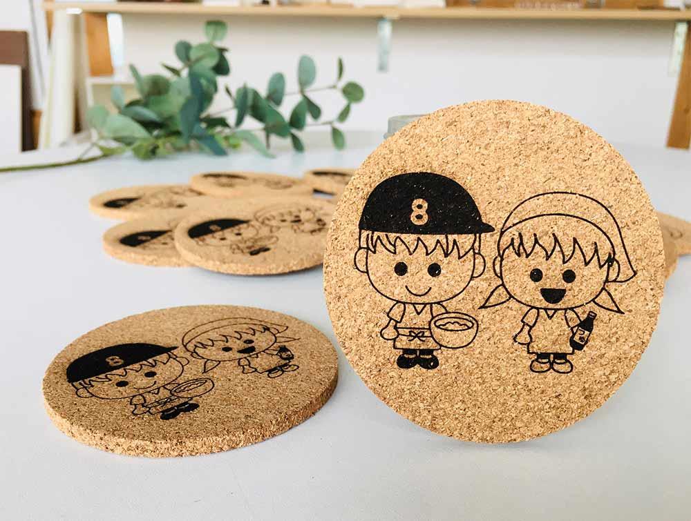 838aacefb042c826a293074c0a2e91fd - 奈良の素麺屋さんのキャラクター入りコースターのご依頼を頂きました